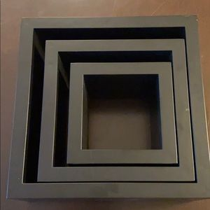 Set of 3 Black Shadow Boxes